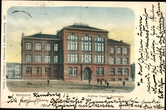Ansichtskarte Postkarte Hamburg Wandsbek Matthias Akpoolde