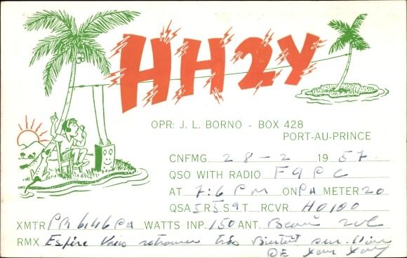 Haiti Karte.Postcard Port Au Prince Haiti Qsl Karte Hh2y Akpool Co Uk