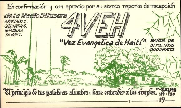 Haiti Karte.Postcard Haiti 4veh Voz Evangelica De Haiti Qsl Akpool Co Uk