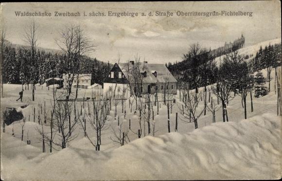 Postcard Zweibach Breitenbrunn Erzgebirge,   akpool.co.uk
