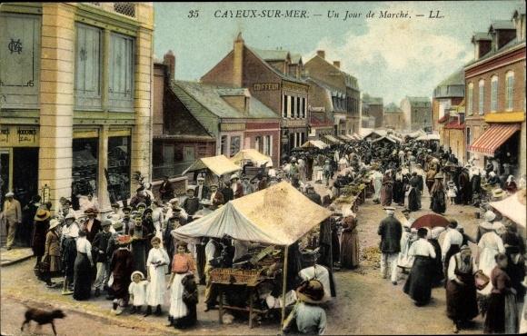 Ansichtskarte Postkarte Cayeux Sur Mer Somme Un Jour De Akpool De