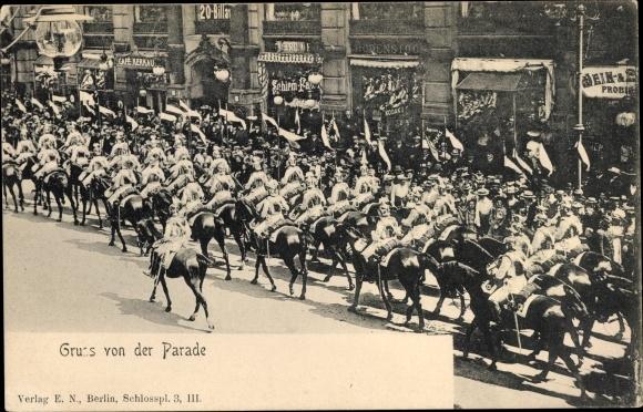 Ansichtskarte / Postkarte Gruß von der Parade, Kürassiere | akpool.de