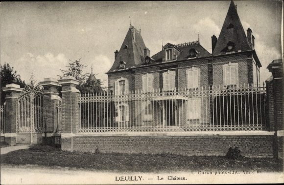 Postcard Loeuilly Somme Le Chateau Blick Auf Das Akpool Co Uk