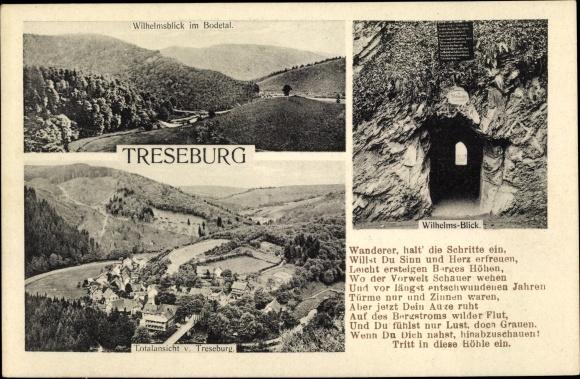 Postcard Treseburg Thale Im Harz Totalansicht Vom Ort