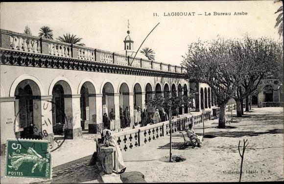 Postcard laghouat algerien vue sur le bureau arabe akpool