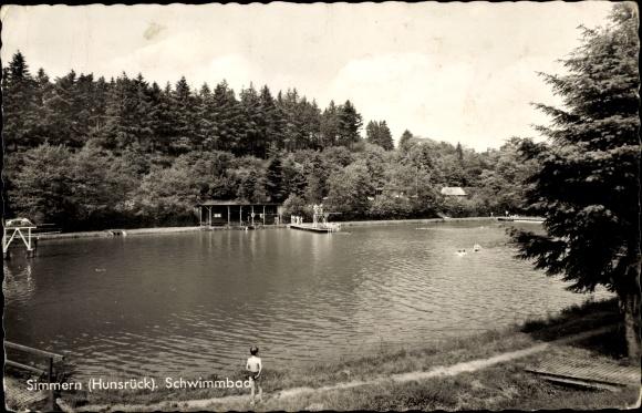 Budenheim Schwimmbad ansichtskarten 5546 simmern umgebung akpool de