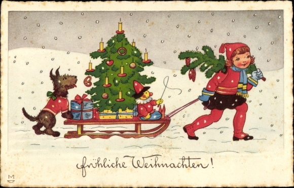 Weihnachtsbaum Weihnachten.Artist Postcard Frohe Weihnachten Weihnachtsbaum Akpool Co Uk