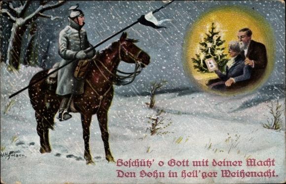 Frohe Weihnachten Pferd.Künstler Ansichtskarte Postkarte Hoffmann Ad Frohe Akpool De