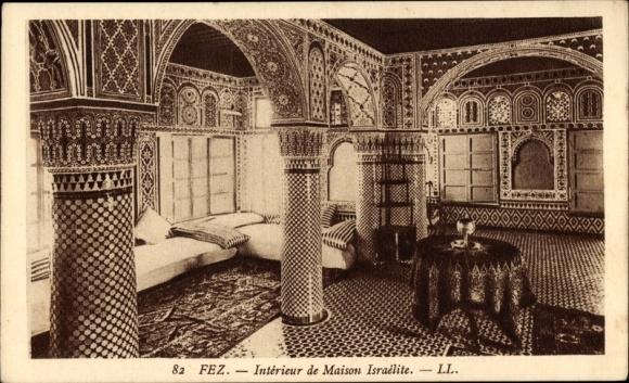 Ansichtskarte / Postkarte Fès Fez Marokko, Intérieur de ...