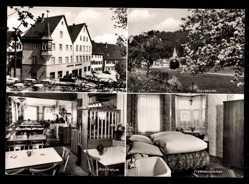 Foto Ak Blaubeuren, Blautopf, Gasthof Zum Waldhorn,Raum