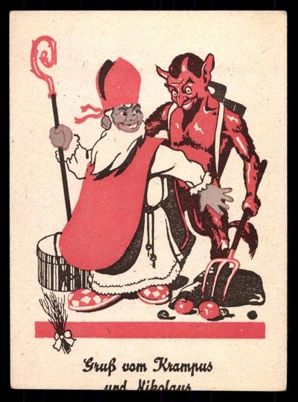 ... -Ansichtskarte / Postkarte Gruß vom Krampus und Nikolaus | akpool.de