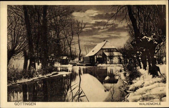Postcard Gottingen Die Walkemuhle Im Winter Akpool Co Uk
