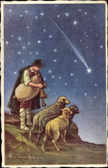 Hirten Bilder Weihnachten.Artist Postcard Colombo E Frohe Weihnachten Hirte Akpool Co Uk