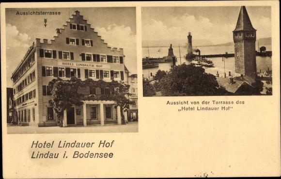 Postcard Lindau Am Bodensee Hotel Lindauer Hof Bes Akpool Co Uk
