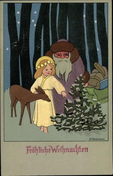 Weihnachtsgrüße Christkind.Artist Postcard Caspari Gertrud Frohe Weihnachten Akpool Co Uk
