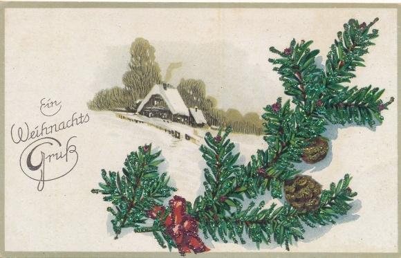 Frohe Weihnachten Glitzer.Glitzer Ansichtskarte Postkarte Frohe Weihnachten Akpool De