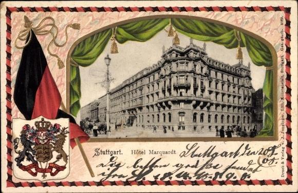 Embossed Coat Of Arms Passepartout Postcard Stuttgart Akpool Co Uk