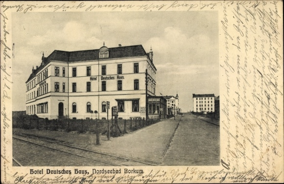 Postcard Insel Borkum Ostfriesland Hotel Deutsches Akpool Co Uk