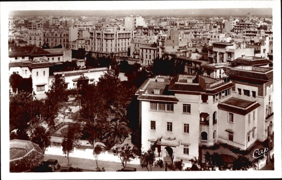 Ansichtskarte postkarte casablanca marokko vue generale akpool