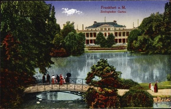 garten frankfurt, postcard frankfurt am main, zoologischer garten, | akpool.co.uk, Design ideen