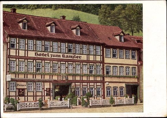 Postcard Stolberg Sudharz Hotel Zum Kanzler Inh Max Akpool Co Uk