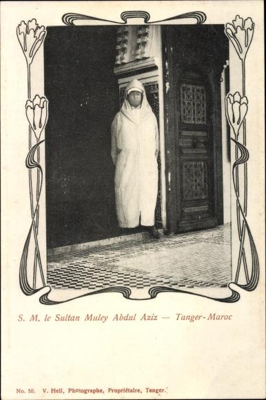 Passepartout Postcard Tanger Marokko Le Sultan Muley Abdul Aziz Abd Al