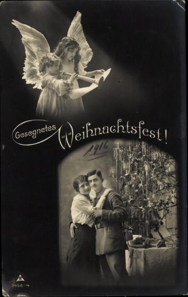 Frohe Weihnachten Berlin.Postcard Frohe Weihnachten Tanne Soldat Mit Frau Akpool Co Uk