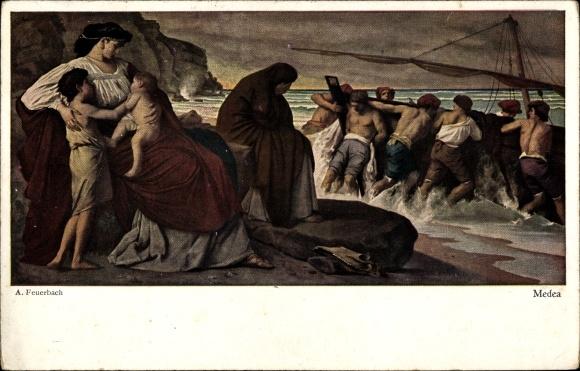 Anselm Feuerbach Kunstpostkarte Bildnisse der Anna Risi