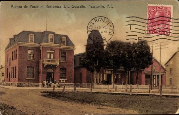 Ansichtskarte postkarte plessisville quebec kanada akpool