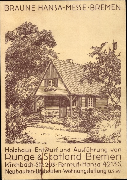 Holzhaus Bremen artist postcard hansestadt bremen braune hansamesse akpool co uk