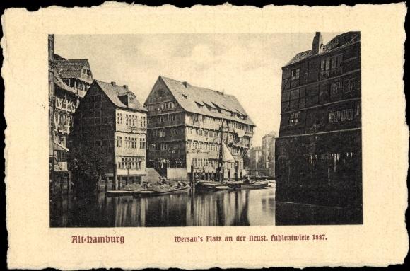 Postcard Hamburg Altstadt Wersaus Platz An Der Neust Akpool Co Uk