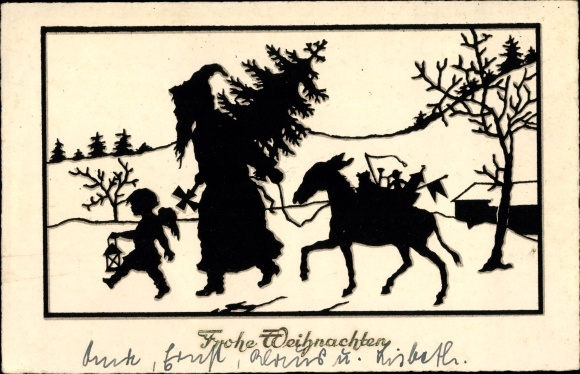 Weihnachten Scherenschnitt.Scherenschnitt Ansichtskarte Postkarte Glückwunsch Akpool De