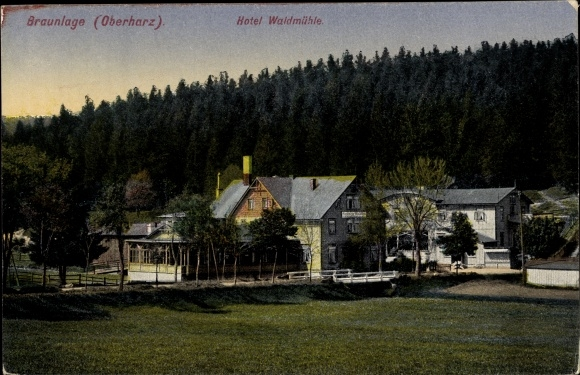 Ansichtskarte Postkarte Braunlage Im Oberharz Hotel Akpool De