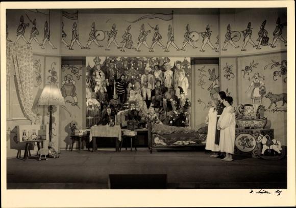Foto Ansichtskarte / Postkarte Theaterszene Peterchens ...