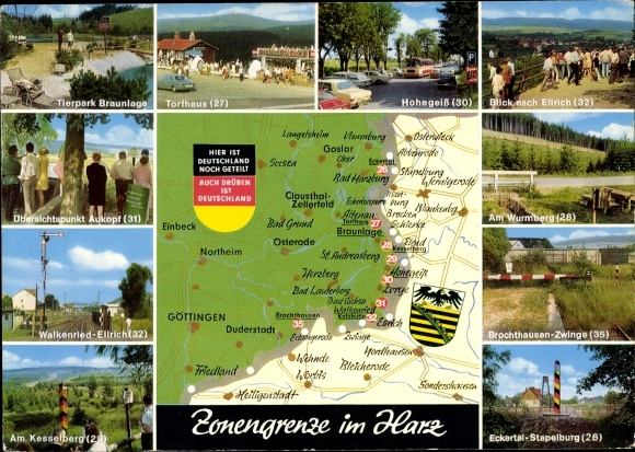 Ddr Grenze Karte Harz.Landkarten Ansichtskarte Postkarte Zonengrenze Im Harz