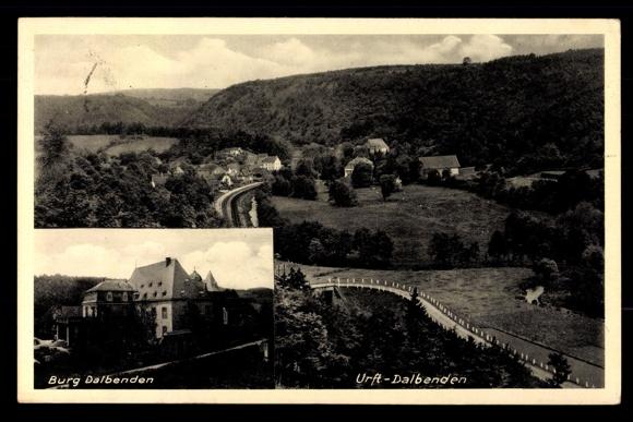 Küchen Kall Eifel ~ ansichtskarte postkarte urfl dalbenden kall eifel, burg