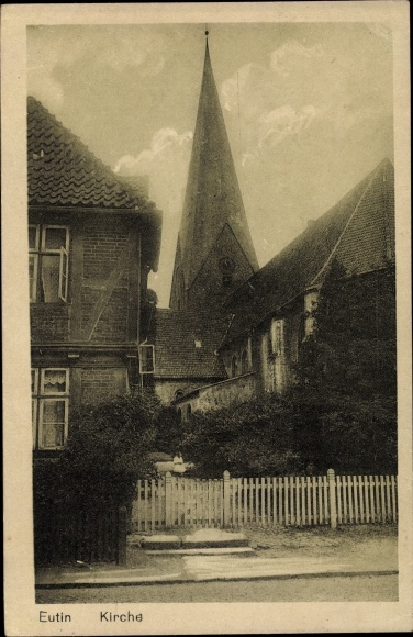 Postcard Eutin In Ostholstein Kirche Aussenansicht Akpool Co Uk
