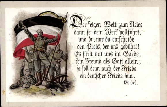Postcard Der Feigen Welt Zum Neide Gedicht Von Emanuel