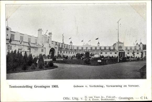 postcard groningen niederlande tentoonstelling 1903 akpoolcouk