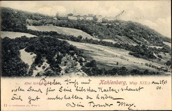 Postcard Wien 19 Döbling österreich Hotel Kahlenberg Akpoolcouk