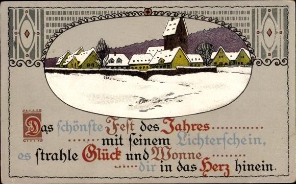 Präge Ansichtskarte / Postkarte Frohe Weihnachten, | akpool.de