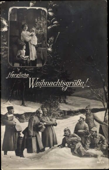 Ansichtskarte / Postkarte Weihnachtsgrüße, Soladten im | akpool.de