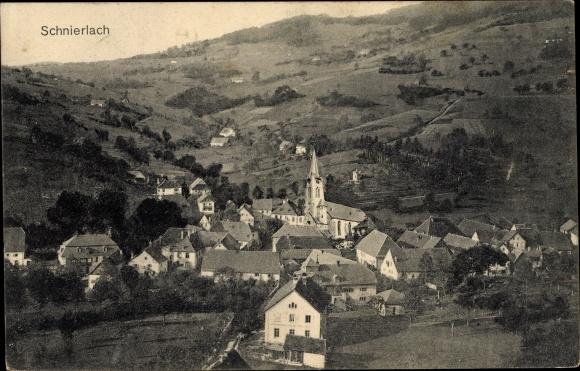 Carte Alsace Lapoutroie.Carte Postale Lapoutroie Schnierlach Elsass Haut Rhin Panorama Vom Ort