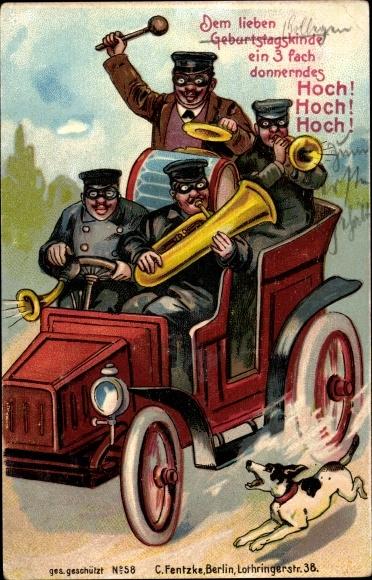 Ansichtskarte Postkarte Gluckwunsch Geburtstag Auto Akpool De