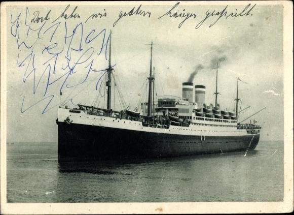 Postcard Dampfschiff Deutschland Hamburg Amerika Akpool Co Uk