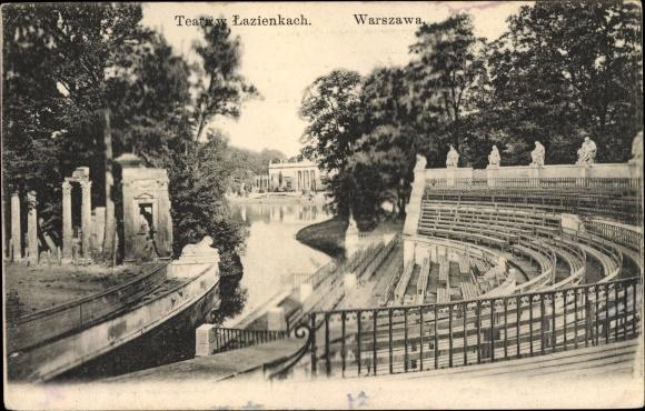 Postcard Warszawa Warschau Polen łazienki Park Park Akpoolcouk