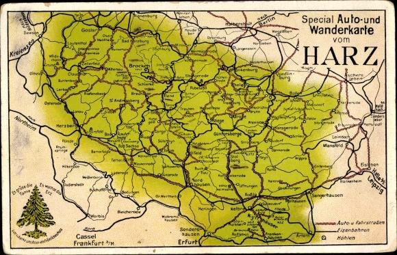Landkarten Ansichtskarte Postkarte Wernigerode Am Harz Akpoolde