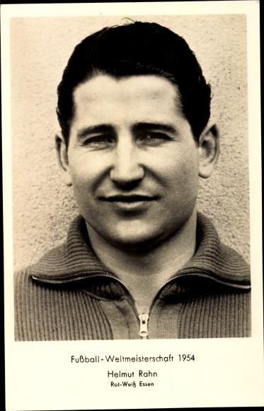 Postcard Helmut Rahn Fussball Weltmeisterschaft 1954