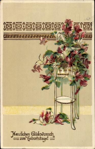 Postcard Glückwunsch Geburtstag Blumen Akpoolcouk