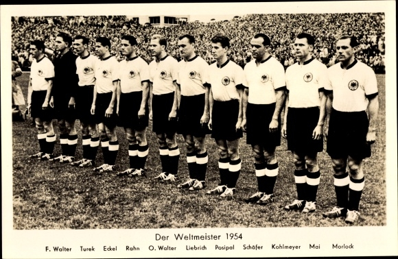 Postcard Fussball Weltmeister 1954 Walter Turek Akpool Co Uk